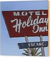 Holiday Inn 3 Wood Print