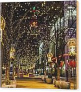 Holiday Lights In Denver Colorado Wood Print