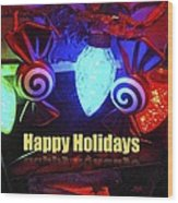 Holiday Lights Wood Print
