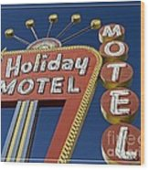 Holiday Motel Las Vegas Wood Print