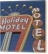 Holiday Motel Las Vegas Wood Print by Edward Fielding