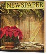 Holiday News Wood Print