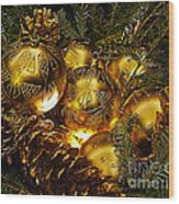 Holiday Ornaments Wood Print