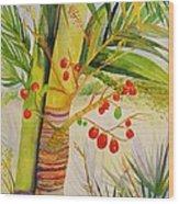 Holiday Palm Wood Print