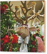 Holiday Reindeer Wood Print