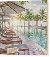 Holiday Resort Wood Print