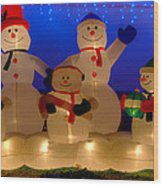 Holiday Snowmen 2 Wood Print