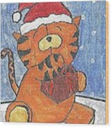 Holiday Tiger Wood Print