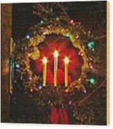 Holiday Wreath Wood Print