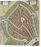 Holland: Gouda Plan, 1649 Wood Print