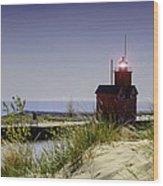 Holland Harbor Light  Wood Print