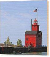 Holland Harbor Lighthouse Wood Print