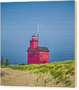 Holland Harbor Lighthouse Mi Wood Print
