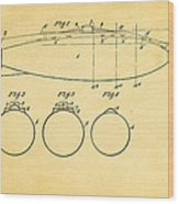 Holland Submarine Patent  Art 1902 Wood Print