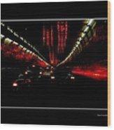 Holland Tunnel Lights Wood Print