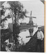 Holland Windmill, C1906 Wood Print