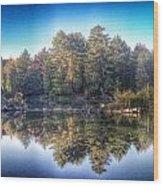 Hollow River Wood Print