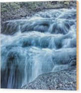 Hollow River Rapids Wood Print