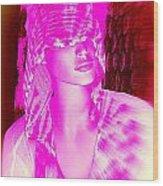 Holly In Hood Wood Print