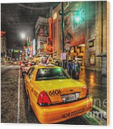 Hollywood Boulevard Wood Print