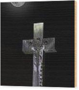 Hollywood Cemetery Full Moon Wood Print