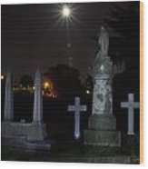 Hollywood Cemetery Moon Burst Wood Print