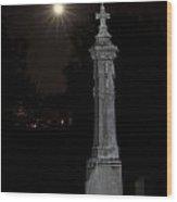Hollywood Cemetery Moon Rise Wood Print