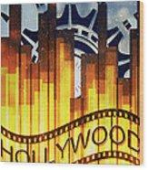 Hollywood Gold Wood Print