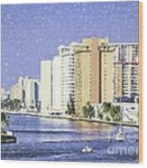 Hollywood In Florida Wood Print