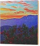 Hollywood Sunset Wood Print