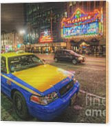 Hollywood Taxi Wood Print