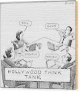 Hollywood Think Tank Wood Print