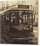 Hollywood Trolley Wood Print