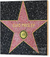 Hollywood Walk Of Fame Elvis Presley 5d28923 Wood Print