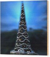 Hollywood Xmas Tree Walt Disney World Wood Print