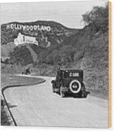 Hollywoodland Wood Print