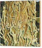 Holocaust Memorial Detail Wood Print