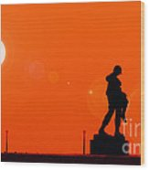 Holocaust Memorial - Sunset Wood Print