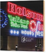 Holsum Neon Las Vegas Wood Print by Kip Krause
