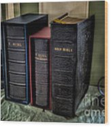 Holy Bibles Wood Print by Adrian Evans