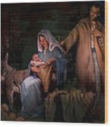 Holy Child Wood Print by Jean Hildebrant