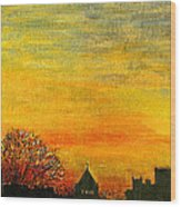 Holy City Sunset Wood Print
