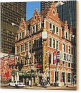 Holy Cow Harry Caray Building Wood Print