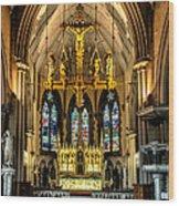 Holy Cross Wood Print