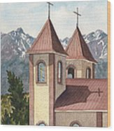 Holy Family Catholic Church In Fort Garland Colorado Wood Print