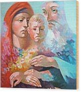 Holy Family Wood Print