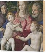 Holy Family With St. Anne And The Infant St. John Wood Print
