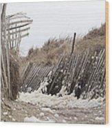 Holy Foam Wood Print by Eugene Bergeron