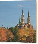 Holy Hill In Living Color Wood Print