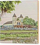 Holy Rosary Church Wood Print
